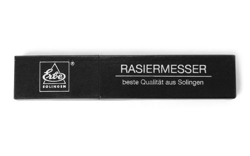"Erbe Razor, Solingen, Mild non stainless steel blade, blade width 5/8"", plastic bowl – image 2"