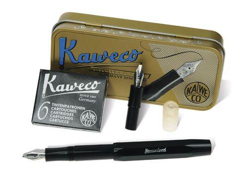 """Kaweco Kalligraphie-Set """"S"""" schwarz inkl. Dose"""