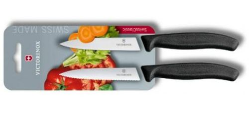 Victorinox Swiss Classic Paring Knife Set, 2 Knifes,10 cm, pointed tip, 6.7793.B