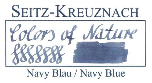 Seitz-Kreuznach Fountain pen ink Navy Blue, 1 fl oz, Colors of Nature – image 3