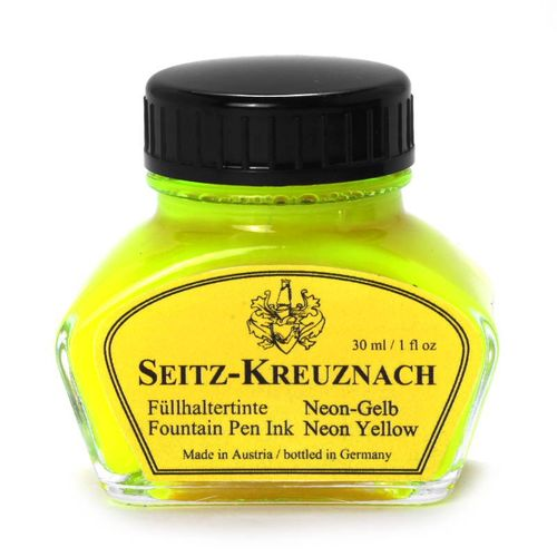Seitz-Kreuznach Tinte Neon-Gelb, 30ml, Highlighter Ink – Bild 1