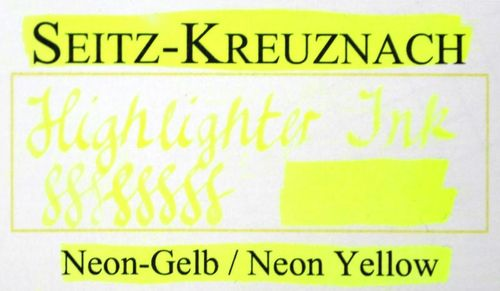 Seitz-Kreuznach Fountain pen ink Neon Yellow, 1 fl oz, Highlighter Ink – image 3