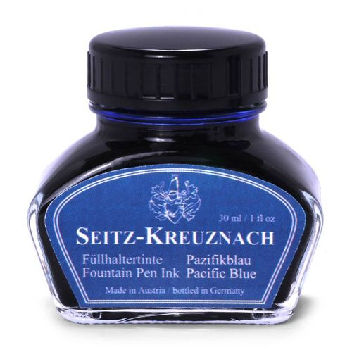 Seitz-Kreuznach Fountain pen ink Pacific Blue, 1 fl oz, Colors of Nature – image 1