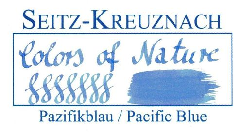 Seitz-Kreuznach Fountain pen ink Pacific Blue, 1 fl oz, Colors of Nature – image 3