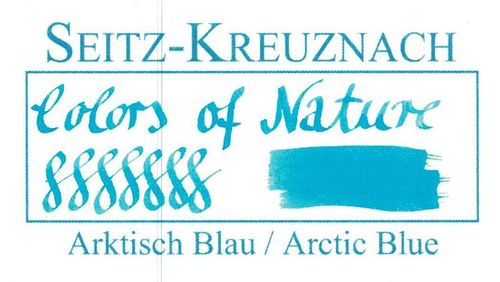 Seitz-Kreuznach Fountain pen ink Arctic Blue, 1 fl oz, Colors of Nature – image 3