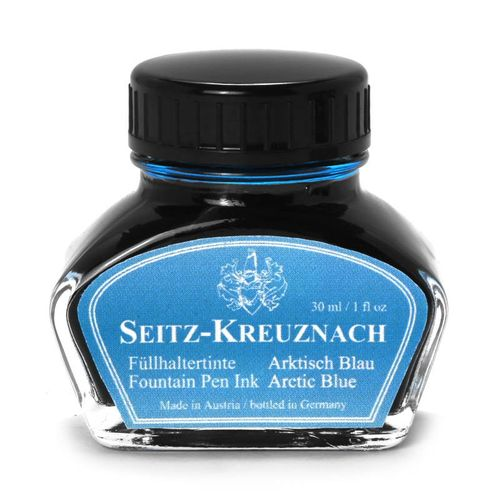 Seitz-Kreuznach Fountain pen ink Arctic Blue, 1 fl oz, Colors of Nature – image 1
