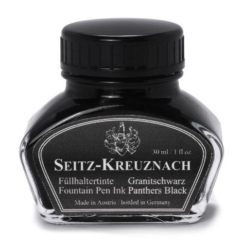 Seitz-Kreuznach Fountain pen ink Panthers Black, 1 fl oz, Colors of Nature – image 1