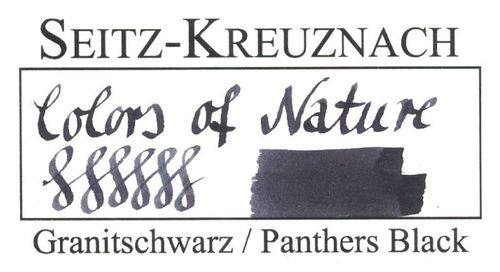 Seitz-Kreuznach Fountain pen ink Panthers Black, 1 fl oz, Colors of Nature – image 3