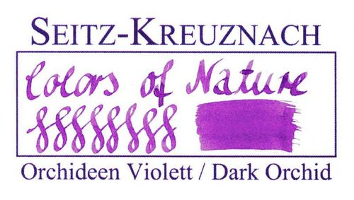 Seitz-Kreuznach Fountain pen ink Dark Orchid, 1 fl oz, Colors of Nature – image 3