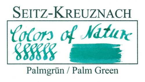 Seitz-Kreuznach Tinte Palmgrün, 30ml, Colors of Nature – Bild 3