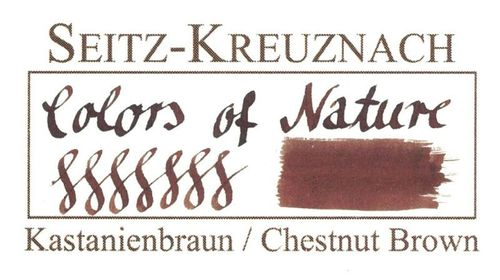 Seitz-Kreuznach Fountain pen ink Chestnut Brown, 1 fl oz, Colors of Nature – image 3