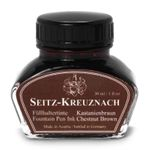 Seitz-Kreuznach Fountain pen ink Chestnut Brown, 1 fl oz, Colors of Nature