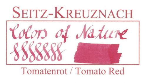 Seitz-Kreuznach Fountain pen ink Tomato Red, 1 fl oz, Colors of Nature – image 3