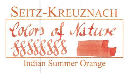 Seitz-Kreuznach Fountain pen ink Indian Summer Orange, 1 fl oz – image 3