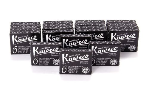 Kaweco Fountain Pen Ink Cartridges short, Pearl Black (Black), 120 pc.