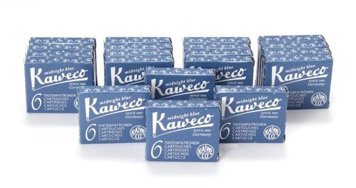 Kaweco Fountain Pen Ink Cartridges short, Midnight Blue (Blue Black), 120 pc.