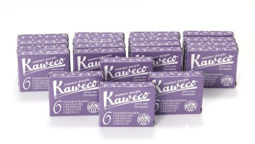 Kaweco Fountain Pen Ink Cartridges short, Summer Purple (Purple), 120 pc.