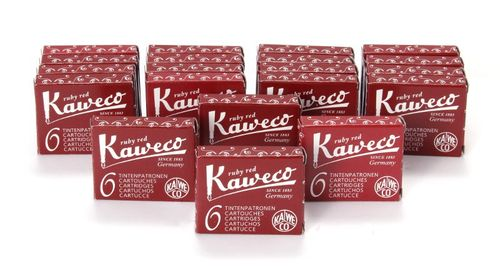 Kaweco Fountain Pen Ink Cartridges short, Ruby Red (Red), 120 pc.