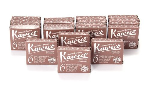 Kaweco Fountain Pen Ink Cartridges short, Caramel Brown (Brown), 120 pc.
