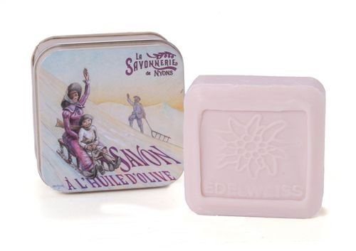 La Savonnerie de Nyons - Soap In A Tin Box La Luge, 100 g