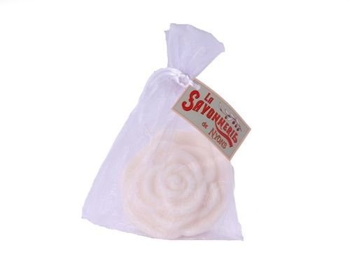 La Savonnerie de Nyons - soap rose shaped, cotton flower, 90g