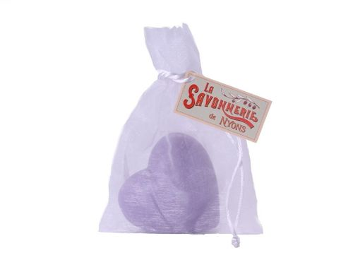 La Savonnerie de Nyons - soap heart shaped, lavender, 100g