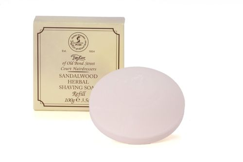 Sandalwood Herbal Shaving Soap, 100g - Taylor of Old Bond Street