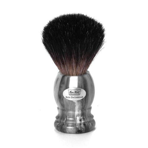 Shaving brush grey badger, grey handle - Hans Baier Exclusive