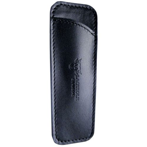 Laguiole en Aubrac Leather sheath, handcrafted, for 12cm Handle, PCA12/Black – image 1
