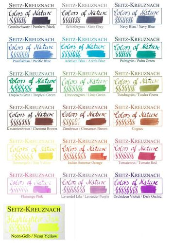 Seitz-Kreuznach Fountain pen ink Lime Green, 1 fl oz, Colors of Nature – image 2