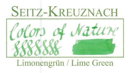 Seitz-Kreuznach Fountain pen ink Lime Green, 1 fl oz, Colors of Nature – image 3