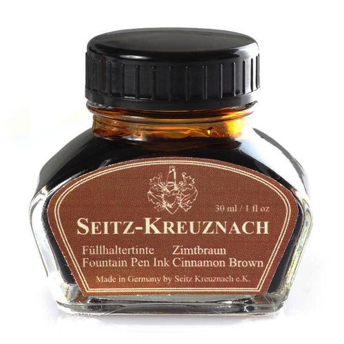 Seitz-Kreuznach Fountain pen ink Cinnamon Brown, 1 fl oz, Colors of Nature – image 1