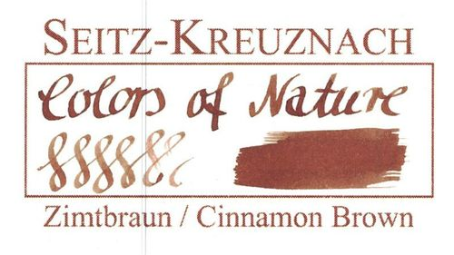 Seitz-Kreuznach Fountain pen ink Cinnamon Brown, 1 fl oz, Colors of Nature – image 3