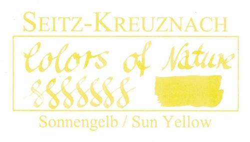Seitz-Kreuznach Fountain pen ink Sun Yellow, 1 fl oz, Colors of Nature – image 3