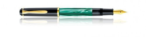 Pelikan Classic M200 Piston Fountain Pen Black-Green marble - Nib B – image 1