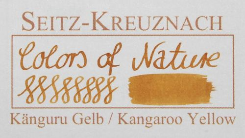 Seitz-Kreuznach Fountain pen ink Kangaroo Yellow, 1 fl oz, Colors of Nature – image 2