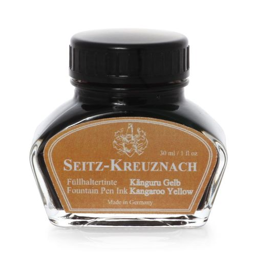 Seitz-Kreuznach Fountain pen ink Kangaroo Yellow, 1 fl oz, Colors of Nature – image 1