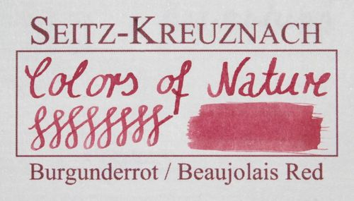 Seitz-Kreuznach Fountain pen ink Beaujolais Red, 1 fl oz, Colors of Nature – image 2