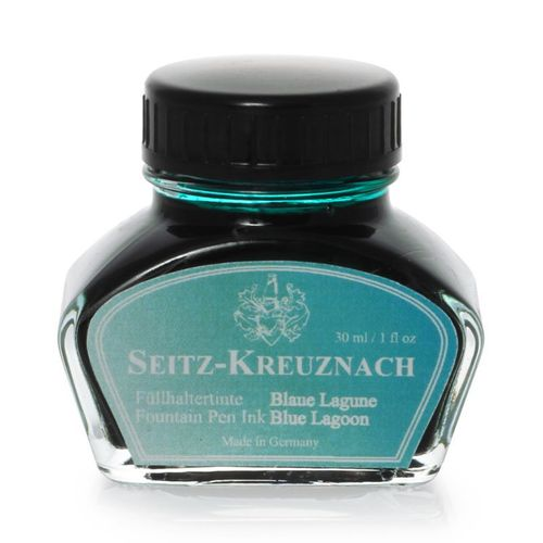 Seitz-Kreuznach Fountain pen ink Blue Lagoon, 1 fl oz, Colors of Nature – image 1
