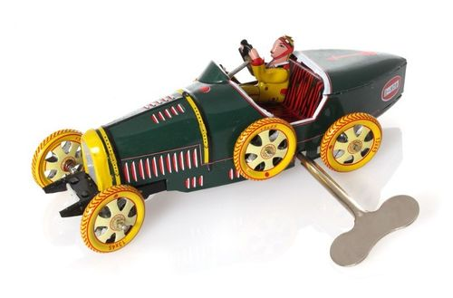 Bugatti T-35 Racer, green, 17 cm - Nostalgic wind-up Tin Model – image 1