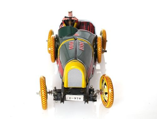 Bugatti T-35 Racer, green, 17 cm - Nostalgic wind-up Tin Model – image 5