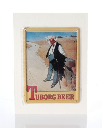 Tuborg Retro Tin Card - 8 x 11 cm - with postcard – image 1