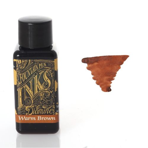 Diamine - Fountain Pen Ink, Warm Brown 30ml – image 1