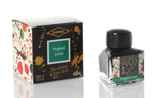 Diamine - Anniversary Fountain Pen Ink 150 years, Tropical Green 40ml