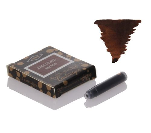 Diamine - Standard Ink Cartridges, Chocolate Brown 6 cartridges – image 1