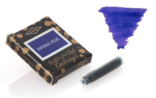 Diamine - Standard Ink Cartridges, Imperial Blue 6 cartridges – image 1