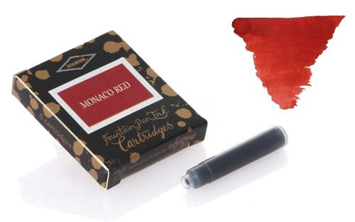 Diamine - Standard Ink Cartridges, Monaco Red 6 cartridges – image 1