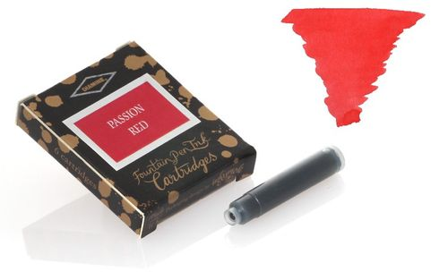 Diamine - Standard Ink Cartridges, Passion Red 6 cartridges – image 1