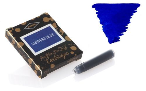 Diamine - Standard Ink Cartridges, Sapphire Blue 6 cartridges – image 1