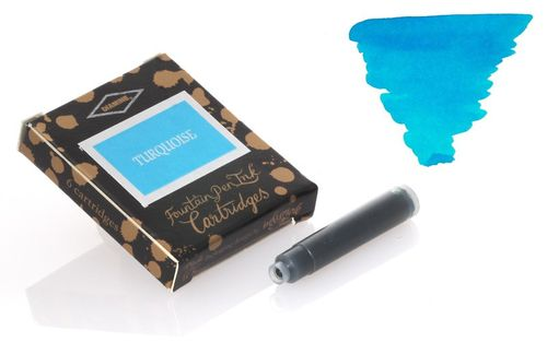 Diamine - Standard Ink Cartridges, Turquoise 6 cartridges – image 1